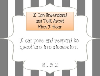 "Common Core Standards/ ""I Can"" Statements - Fifth Grade"