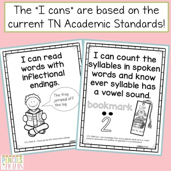 Common Core Standards -  I Can Statements - First Grade ELA