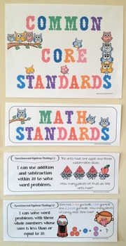 """First Grade Common Core """"I Can Statements"""" - MATH ONLY"""