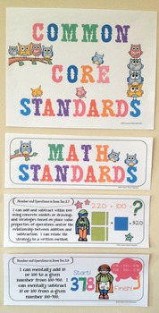 "Second Grade Common Core ""I Can Statements"" - MATH ONLY"