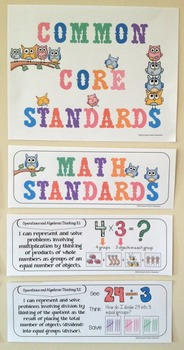 "Third Grade Common Core Standards ""I Can Statements"" - MATH ONLY"