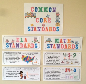 Common Core Posters - I Can Statements Math & ELA (3rd Grade) - Half Page Size