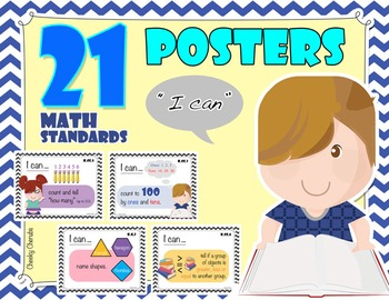 """Solving Math Problems - Common Core Standards Posters - """"I Can"""" Statements"""