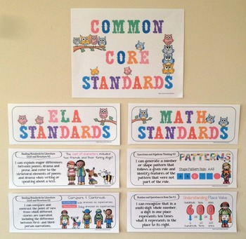 Common Core Posters - I Can Statements Math & ELA (4th Grade) - Half Page Size