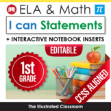 Common Core Standards I Can Statements for 1st Grade - Full Page