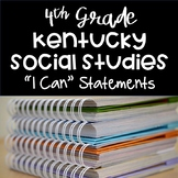"""I Can"" Statement Cards {4th Grade KY Social Studies Standards}"
