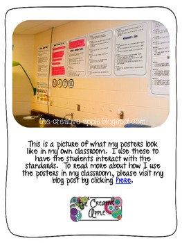 """Common Core Standards """"I Can"""" Wall Posters: 4th grade Math"""