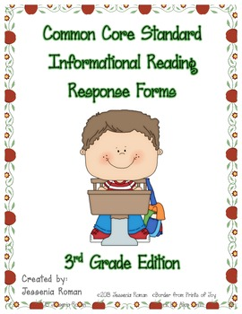 Common Core Informational Reading Response Prompts