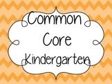 Common Core Standards Kindergarten