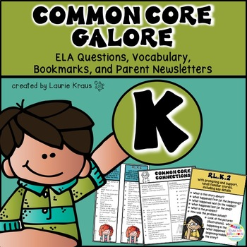 Kindergarten Common Core ELA Reading Literature and Informational Text