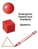Common Core Standards - Kindergarten Geometry Packet