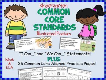 Common Core Standards Posters For Kindergarten