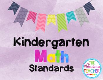Common Core Standards Posters Kindergarten Math