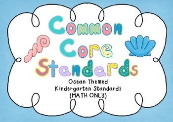 Common Core Standards - Kindergarten - Ocean Themed - MATH