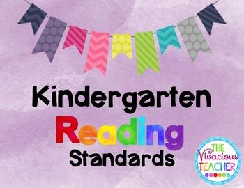 Common Core Standards Posters Kindergarten Reading