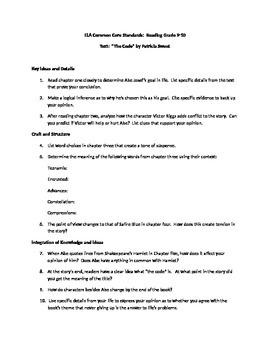 Common Core Standards Literature Assignment