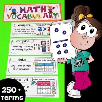 Math Word Wall, Math Vocabulary & Math Interactive Noteboo
