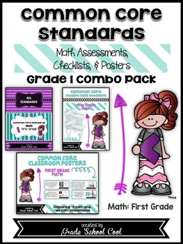 Common Core Standards: Math Assessments, Checklists, Posters Grade 1 Combo Pack