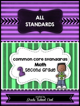 Common Core Standards: Math Assessments, Checklists, Posters Grade 2 Combo Pack