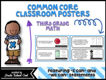 Common Core Standards: Math Assessments, Checklists, Posters Grade 3 Combo Pack