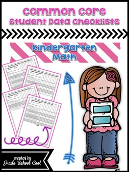 Common Core Standards: Math Assessments, Checklists, Posters Grade K Combo Pack