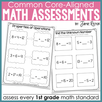 Common Core Standards Math Quick Assessments: 1st Grade Edition