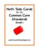 Common Core Standards Math Task Cards:  Grade 1