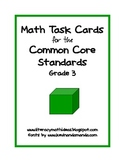Common Core Standards Math Task Cards:  Grade 3