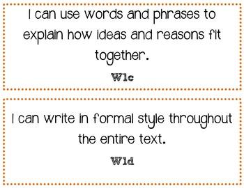 Common Core Standards Mini-Posters - ELA 6th Grade