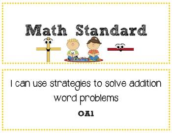 Common Core Standards Mini-Posters - Math 1st Grade