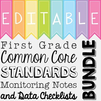 Common Core Standards Monitoring Notes - First Grade Bundle