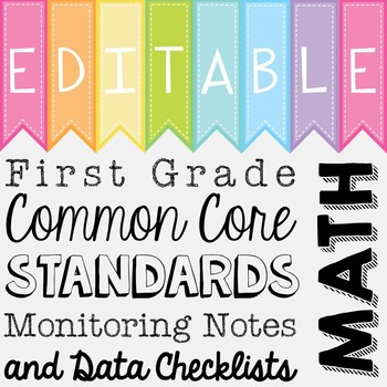 Common Core Standards Monitoring Notes - First Grade Math
