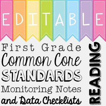 Common Core Standards Monitoring Notes - First Grade Reading