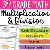 3rd Grade Multiplication & Division Unit - Conceptual Lessons and Practice