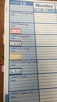 Common Core Standards Planner Sticker Bundle- ELA