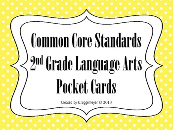 Common Core Standards Pocket Chart Cards for Second Grade Language Arts