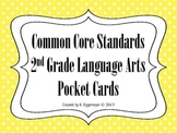 Common Core Standards Pocket Chart Cards for Second Grade