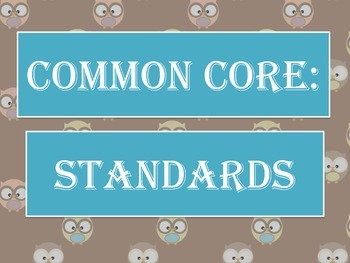 Common Core Standards Poster