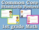 Common Core Standards Posters 1st first grade Math - Prima