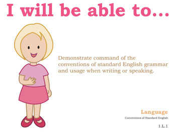 Common Core Standards Posters 1st grade English