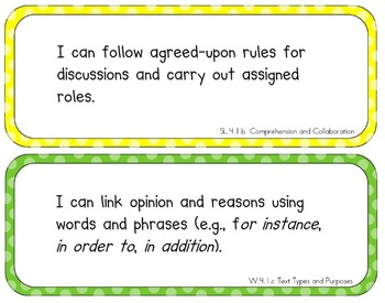 """Common Core Standards Posters (4th Grade -- """"I can"""")"""