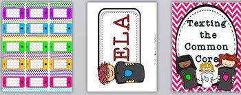 Common Core 4th Grade: Common Core Standards Posters: Math & ELA