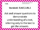 Common Core Standards Posters AND EQs-Third Grade LANGUAGE ARTS (horizontal)