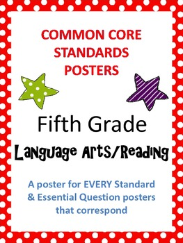 Common Core Standards Posters AND Essential Questions-Fifth Grade LANGUAGE ARTS