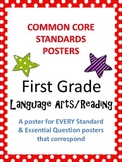 Common Core Standards Posters AND Essential Questions-First Grade LANGUAGE ARTS