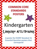 Common Core Standards Posters AND Essential Questions-Kindergarten LANGUAGE ARTS