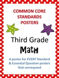 Common Core Standards Posters AND Essential Questions Posters - Third Grade MATH