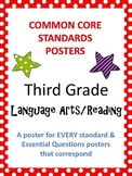 Common Core Standards Posters AND Essential Questions-Third Grade LANGUAGE ARTS