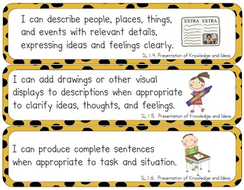 Common Core Standards Posters (First Grade -- Animal Print)