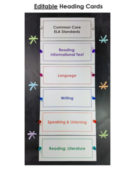 Common Core Standards I Can Statements for 6th Grade ELA - Full Page
